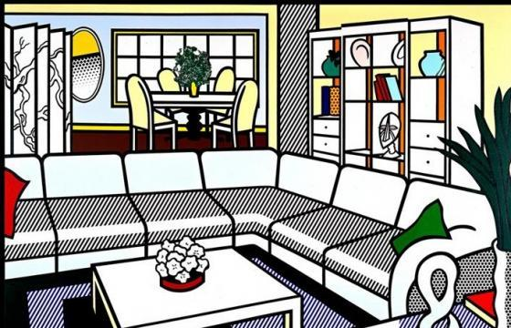Interiors by Roy Lichtenstein Circa the 1990s
