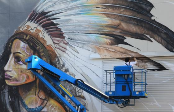 In Progress: LEE's Mural at MOCA