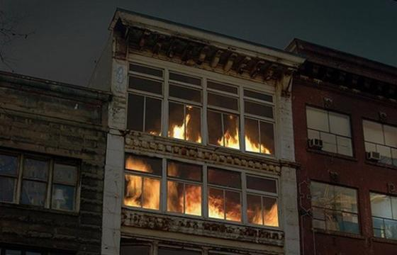 Video—Art Installation that Looks like Burning Building is Not Actually Burning