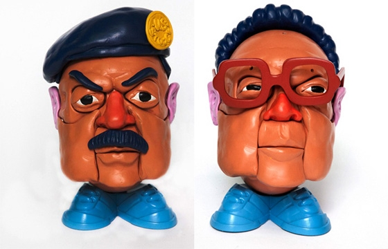"""Mr. Dictator Head"" and Other Sculptures by Stephen Ives"