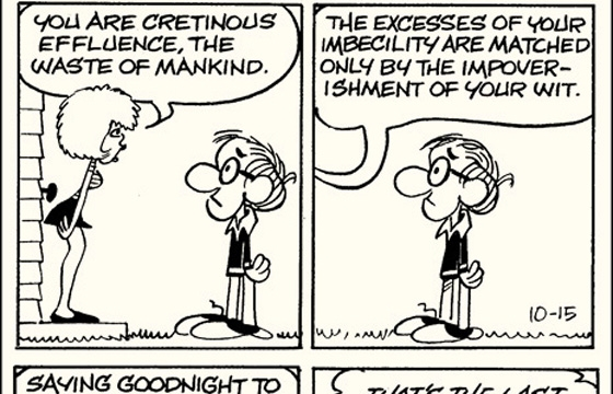 'Inside Woody Allen,' a comic strip from 1976-84