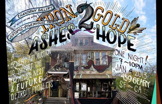 "Chandran Gallery & Juxtapoz Present: ""Iron To Gold/Ashes To Hope"" Benefit"