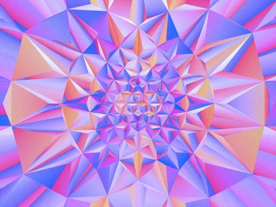 GMUNK's Psychadelic Op-Art-Inspired Geometric Prints