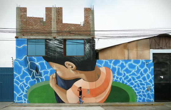 New jade mural in Chorrillos district of Lima