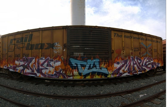 Freights on fire