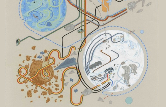 Star Wars Maps by Andrew DeGraff
