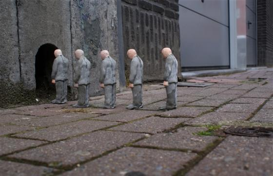 The Cement Eclipses Series by Isaac Cordal