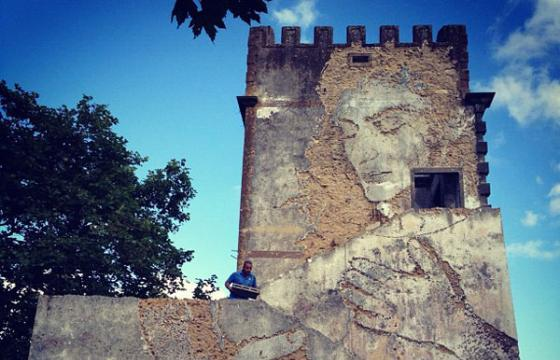Vhils in Azores, Portugal