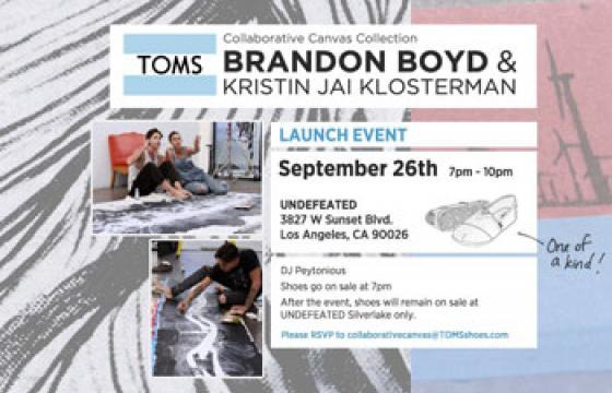 Two Chances to Win Brandon Boyd x Kristin Klosterman Shoes by Toms