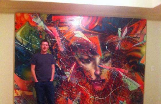 Mark Zuckerberg of Facebook commissions David Choe for new painting