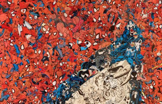 Spider-Man Collage Creates Spider-Man Eye