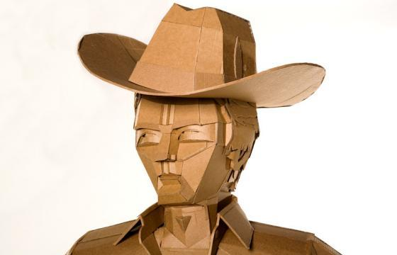 Cardboard Sculptures by Ana Serrano