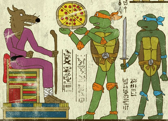 Josh Lane Unites Modern Geek Gods with the Gods of Ancient Egypt