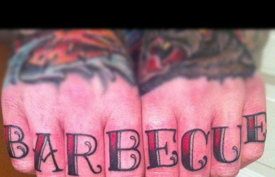 BBQ Knuckle Tat by Annie Frenz