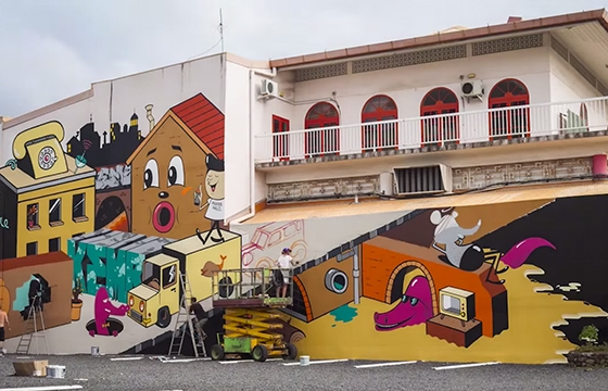 video: ONO'U TAHITI FESTIVAL GRAFFITI 2014