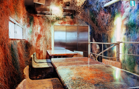 Tokyo Restaurant Decorated with Recycled Cables