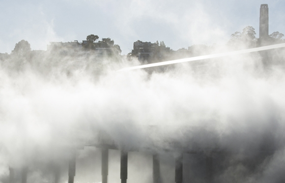 Fujiko Nakaya's Fog Bridge Installation @ The Exploratorium, SF