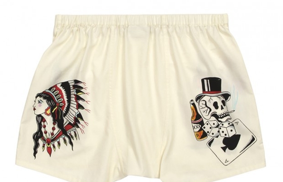 Wes Lang for Sleepy Jones: Tattoo Flash Boxer Shorts