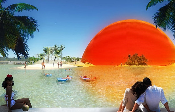"Miami Bayfront Park Proposal, ""The Miami Sun"""