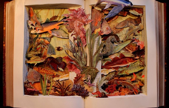 Dissected Book Art by Kerry Miller