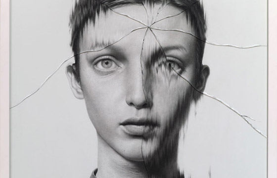 Taisuke Mohri's Cracked Portraits