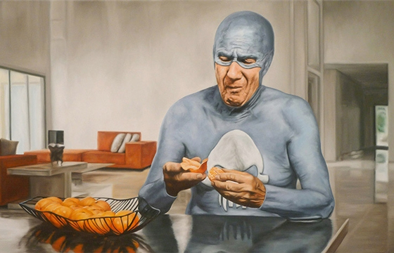 Portraits of an Elderly Superhero by Andreas Englund