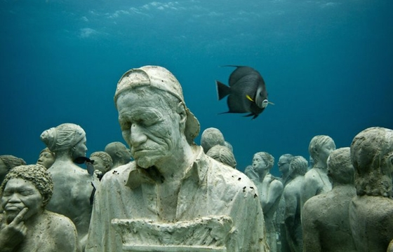 Jason deCaires Taylor's Submerged Figurative Sculptures House Thriving Coral Reefs
