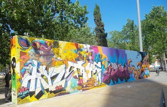 Sawe x Aryz in Barcelona, Spain