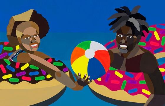 The Last Resort: Derrick Adams' Final Chapter on Exploring Black leisure @ Rhona Hoffman, Chicago