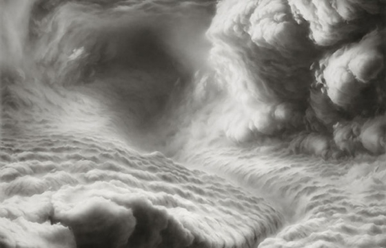 Hilary Brace Draws Her Cloud Worlds with Charcoal and an Eraser