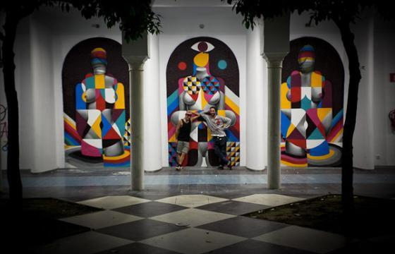 Remed x Okuda @ Delimbo Gallery, Sevilla