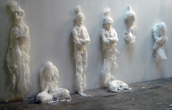 Trash Bag Sculptures by Khalil Chishtee