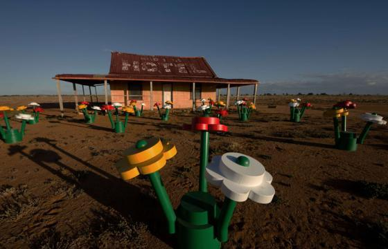 LEGO Forest Installation in the Broken Hill Desert, Australia