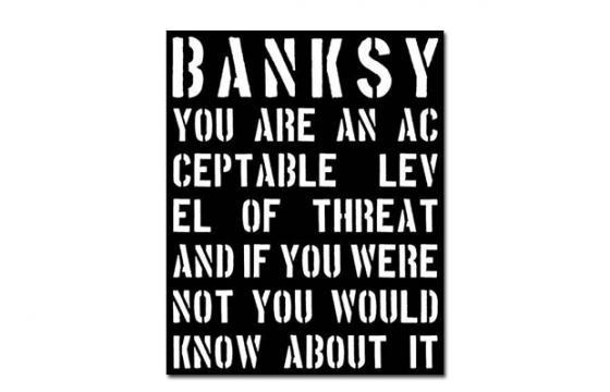 "New Book: ""Banksy: You Are an Acceptable Level of Threat"""