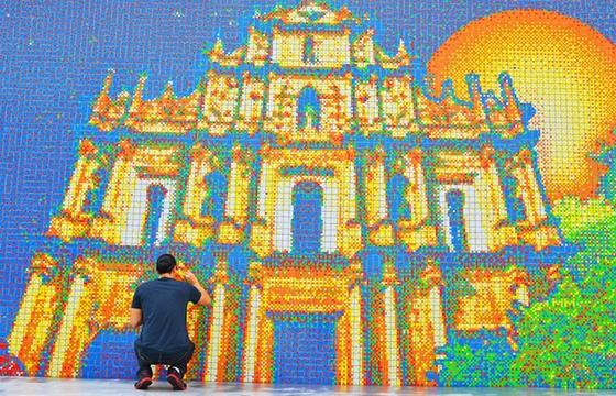 A Mural Made From 85,794 Rubik's Cubes