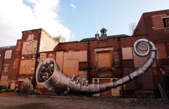 New Phlegm mural in Doncaster, UK