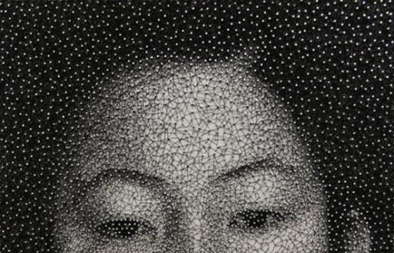 One Single Thread, One Portrait by Kumi Yamashita