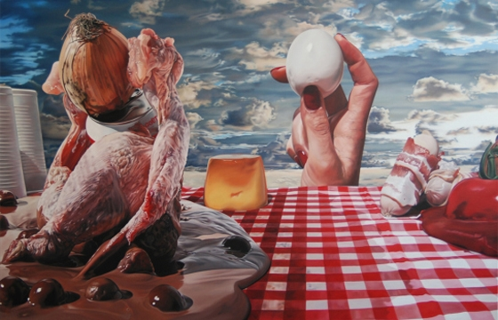 "International Picnic Day: Till Rabus' ""Surrealist Camping Lunch"""