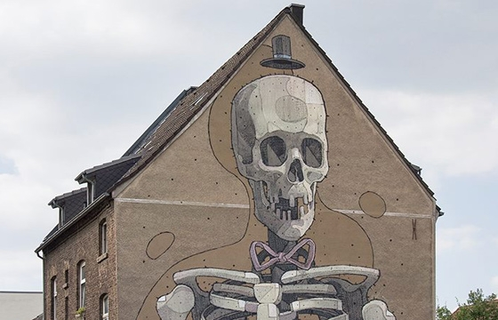 New Aryz mural in Cologne, Germany