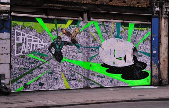 In Street Art: Green Lantern, Meet Escif