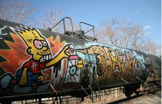 Blitzed Bart Sprayin Away