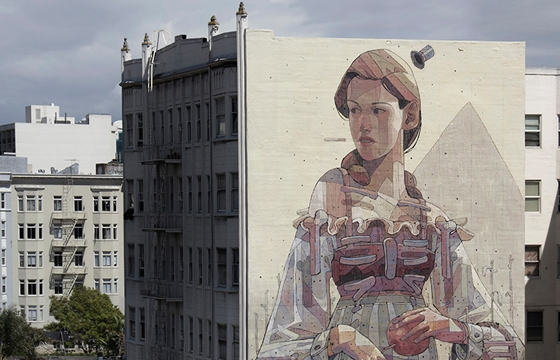 Aryz paints massive mural in San Francisco