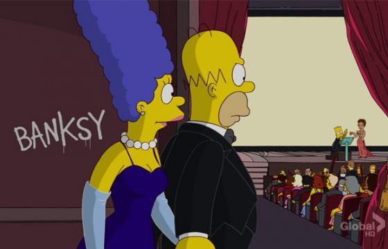 "Banksy Again on ""The Simpsons"""