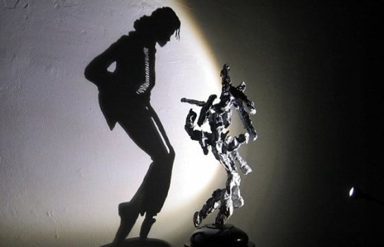Michael Jackson Shadow Casting Sculpture by Diet Wiegman