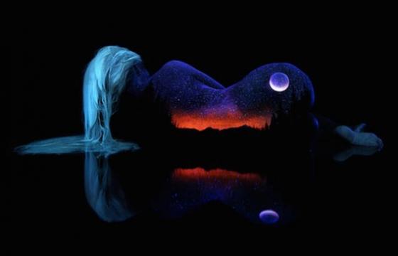 John Poppleton's Black Light Bodyscapes