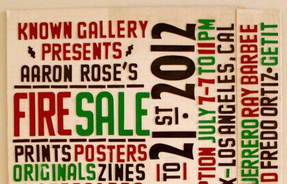 AARON ROSE'S FIRE SALE @ Known Gallery, Los Angeles