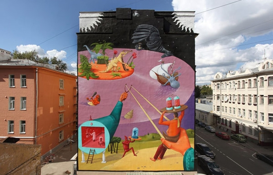 Time Machine Mural by AEC of Interesni Kazki