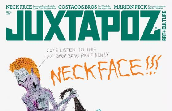 Sneak Peek: Neck Face for Juxtapoz September 2011