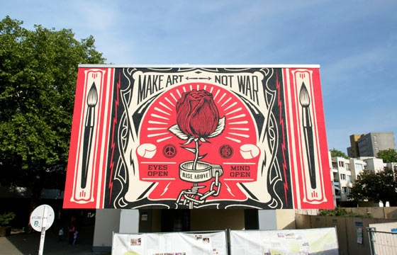 "Shepard Fairey in Berlin for Urban Nation's ""One Wall"" Project"