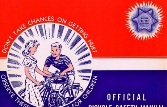 """A Ride of Death"" Bicycle Safety Manual circa 1940s"